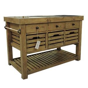 Hillsdale Tuscan Retreat Granite Top Kitchen Island