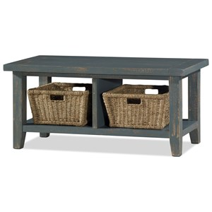 Hillsdale Tuscan Retreat Blanket Bench with Baskets