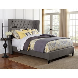 Hillsdale Upholstered Beds Queen Crescent Bed Set