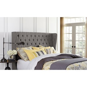 Hillsdale Upholstered Beds Queen Crescent Headboard