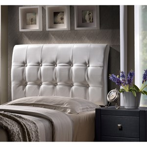 Hillsdale Upholstered Beds Lusso King Headboard with Rails