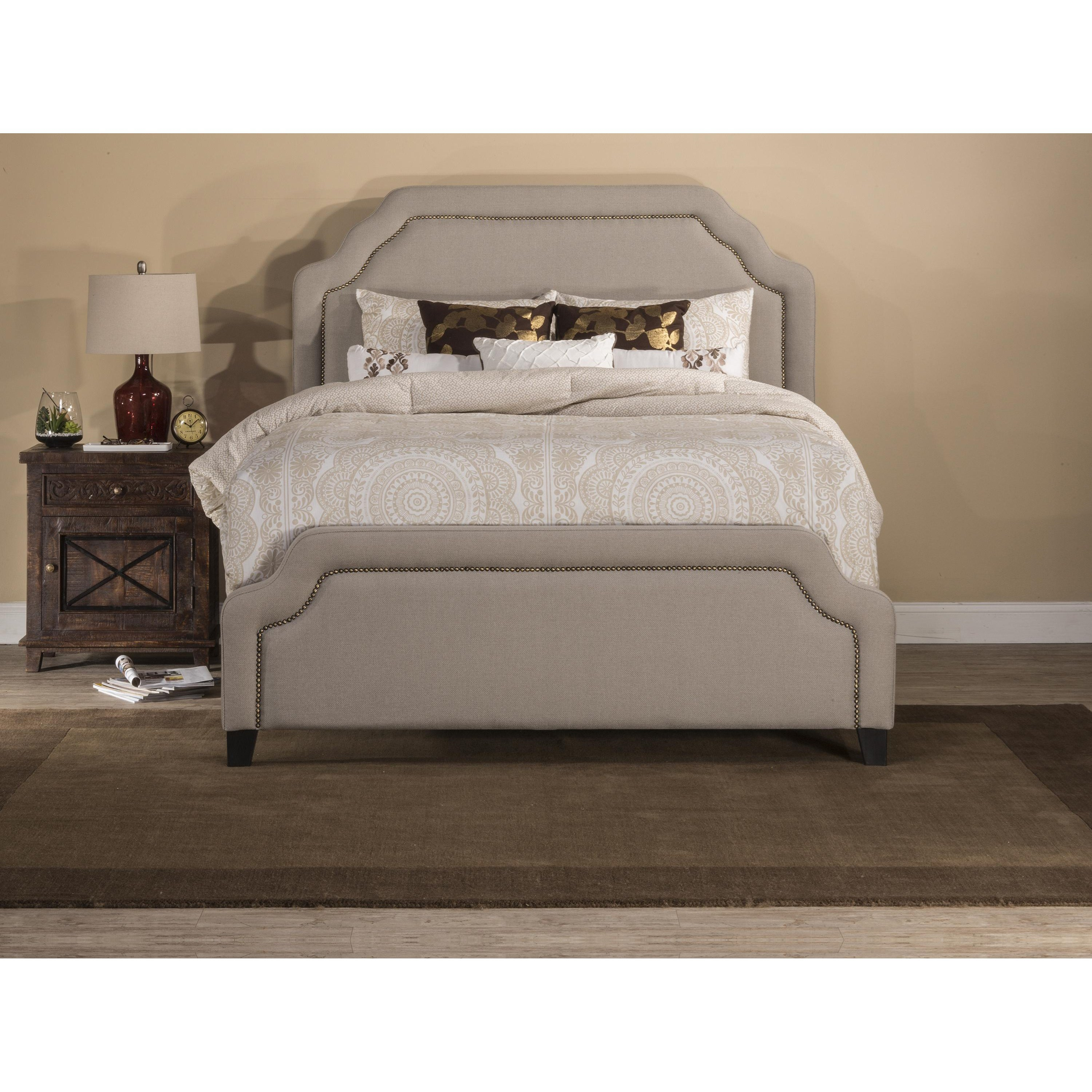next free footed frame double fabric small day product bed grey living delivery chrome exclusive time