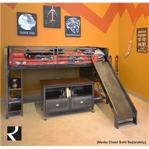 Hillsdale Galaxy Loft Bed w/ Slide