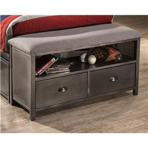 Morris Home Furnishings Urban Quarters Footboard Bench