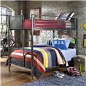 Morris Home Furnishings Urban Quarters Twin/Twin Bunk Bed - Item Number: 1265BB