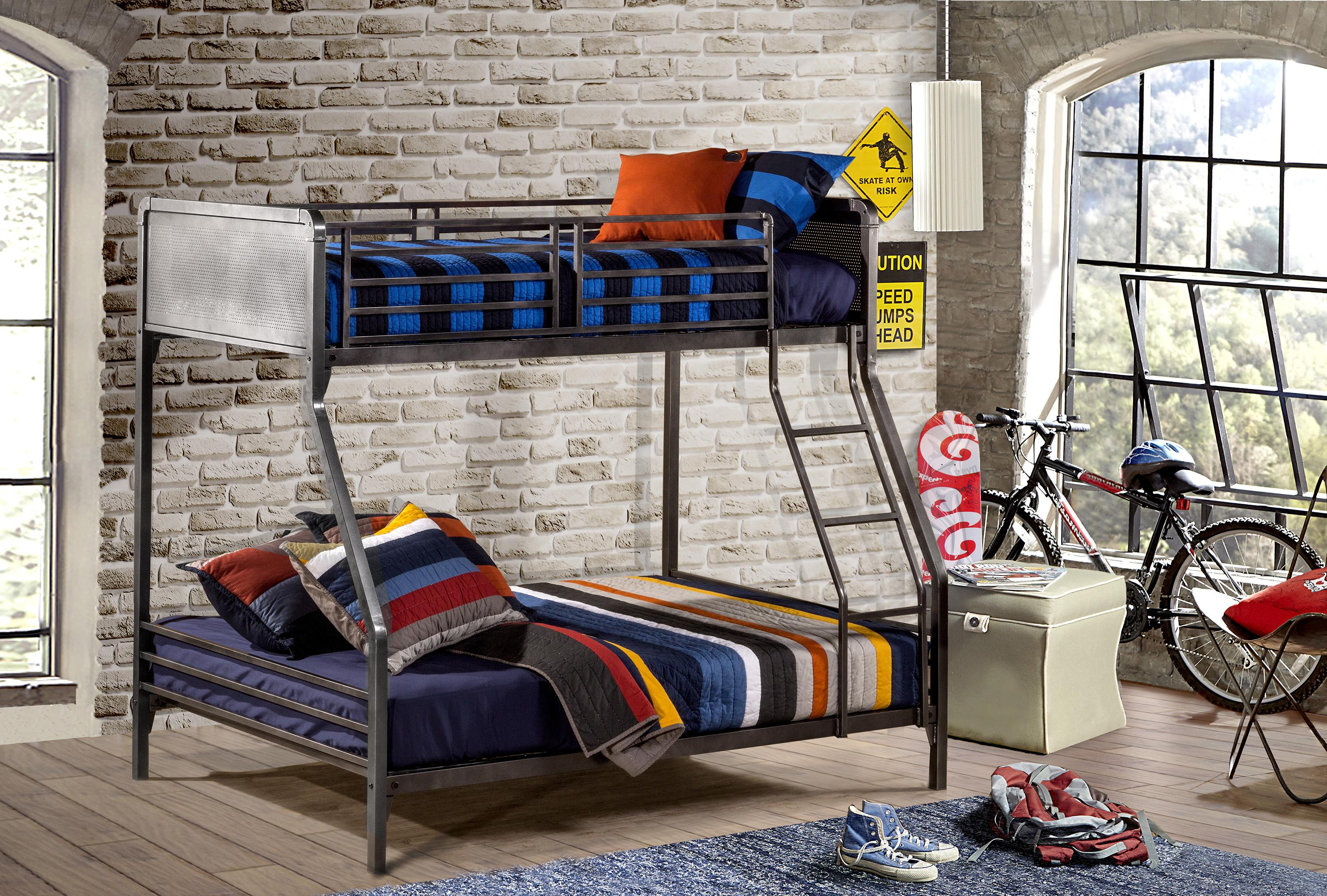 394a871af42ce Hillsdale Urban Quarters Contemporary Metal Twin Full Bunk Bed ...