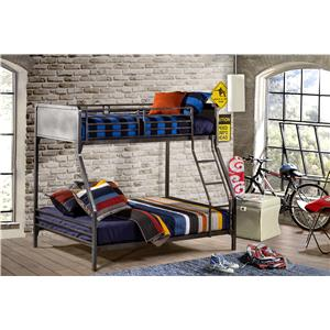Morris Home Furnishings Urban Quarters Twin/Full Bunk Bed