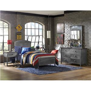 Morris Home Furnishings Urban Quarters Full Four Piece Bedroom Group