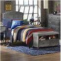 Morris Home Furnishings Urban Quarters Full Bed Set with Bench - Item Number: 1265BFRPB