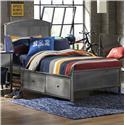 Hillsdale Urban Quarters Full Panel Storage Bed with Rails  - Item Number: 1265BFRPS