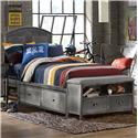 Morris Home Furnishings Urban Quarters Full Storage Bed Set with Footboard Bench - Item Number: 1265BFSB