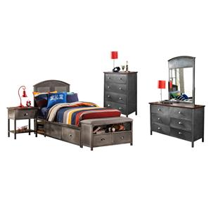 Morris Home Furnishings Urban Quarters Five Piece Full Storage Bed Set
