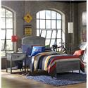 Hillsdale Urban Quarters Contemporary Twin Panel Bed Set with Rails - Bed Shown May Not Represent Size Indicated