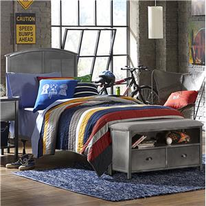 Morris Home Furnishings Urban Quarters Twin Bed Set with Footboard Bench