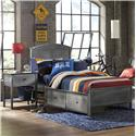 Morris Home Furnishings Urban Quarters Twin Panel Storage Bed with Rails - Item Number: 1265BTRPS