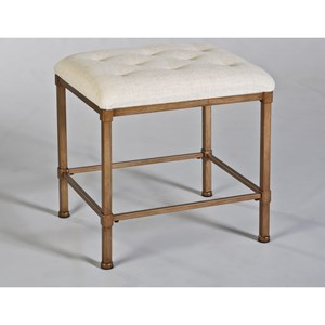 Morris Home Furnishings Vanity Stools Katherine Backless Vanity Stool