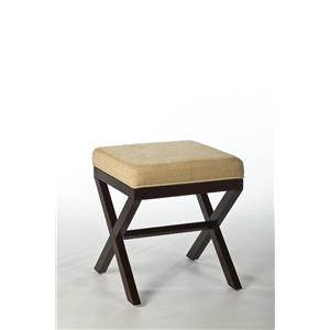 Morris Home Furnishings Vanity Stools Morgan Wood Vanity Stool