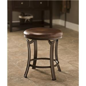 Morris Home Furnishings Vanity Stools Hastings Backless Vanity Stool