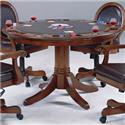 Morris Home Furnishings Warrington Single Pedestal Game Table with Reversible Top
