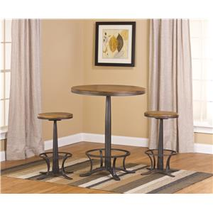 Hillsdale Westview 3-Piece Bistro Table and Backless Stool Set