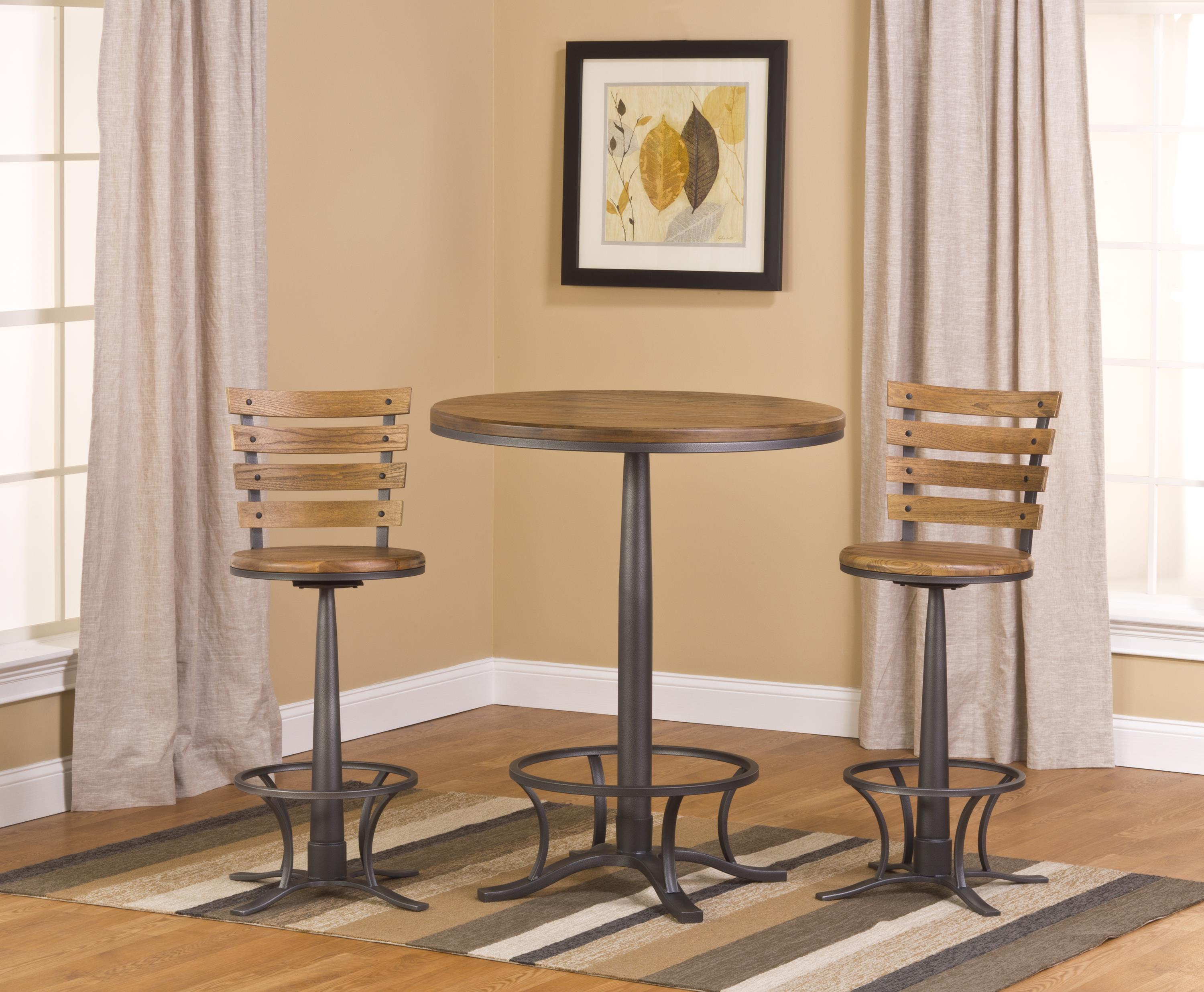Hillsdale Westview 3-Piece Bistro Table and Bar Stool Set - Item Number: 5441PTBW
