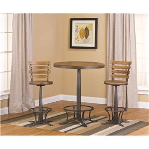 Hillsdale Westview 3-Piece Bistro Table and Bar Stool Set