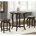 Hillsdale Wilmington Swivel Counter Stool w/ Vinyl Seat - Shown with Counter Height Table