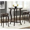 Hillsdale Wilmington Swivel Counter Stool w/ Vinyl Seat - Shown with Bar Table
