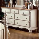 Hillsdale Wilshire Drawer Dresser w/ Brown Wood Top - 1172-717