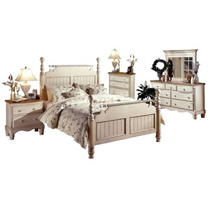 Morris Home Furnishings Wilshire Queen Poster Bed Group