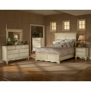 Morris Home Furnishings Wilshire Queen Panel Bedroom Group