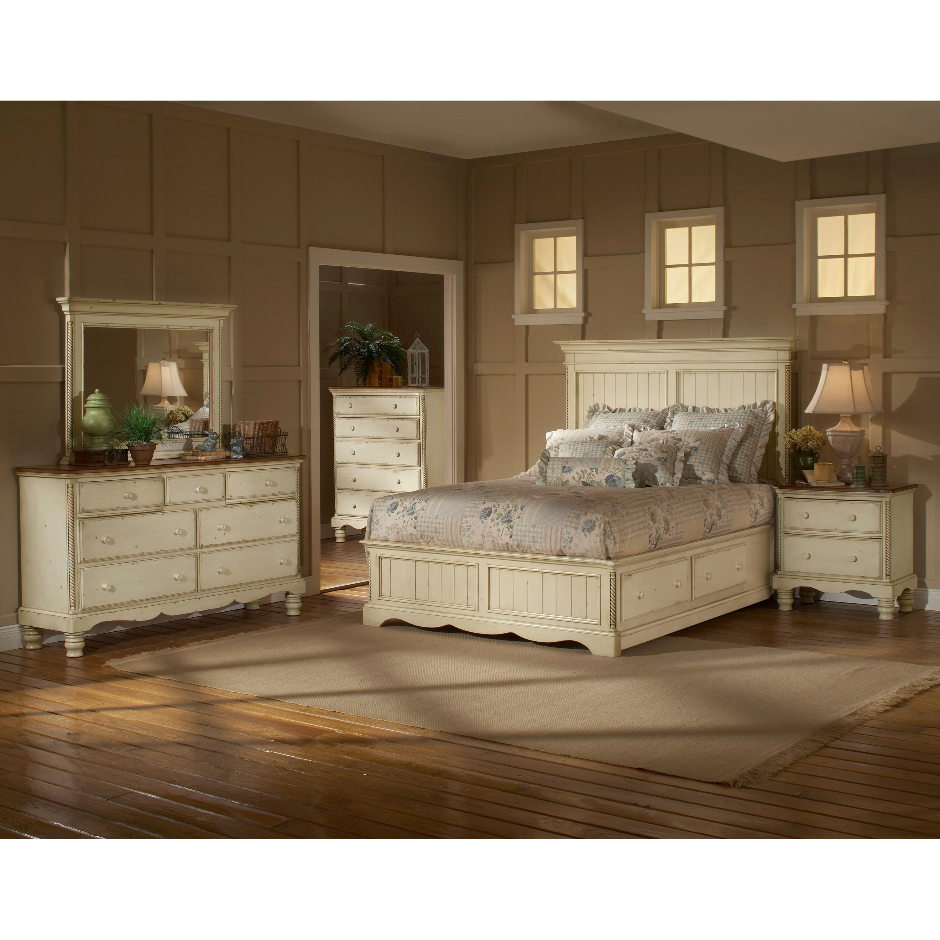 Hillsdale Wilshire 1172stgbkr King Panel Bed Set With