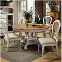 Morris Home Furnishings Wilshire Craftsman Side Chair - Shown with Round Two-Tone Leaf Dining Table