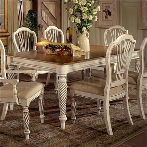 Hillsdale Wilshire Rectangle Two-Tone Double Leaf Dining Table