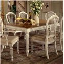 Morris Home Furnishings Wilshire Rectangle Two-Tone Double Leaf Dining Table - Item Number: 4508-819