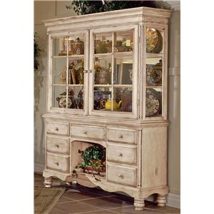 Morris Home Furnishings Wilshire Grand Cottage Buffet & Hutch Combo
