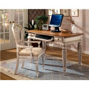 Morris Home Furnishings Wilshire Desk with Vintage White Finish