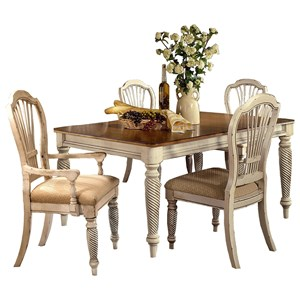 Morris Home Furnishings Wilshire 5-Piece Rectangle Dining