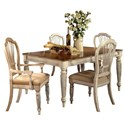 Morris Home Furnishings Wilshire 5-Piece Rectangle Dining - Item Number: 4508DTBRCTC5