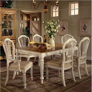 Morris Home Furnishings Wilshire 7 Piece Rectangle Dining Table Set