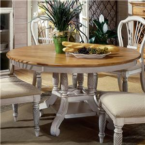Morris Home Furnishings Wilshire Round Leaf Dining Table