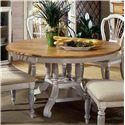 Morris Home Furnishings Wilshire Round Leaf Dining Table - Item Number: 4508DTBRND