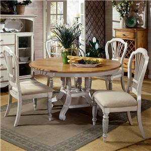Morris Home Furnishings Wilshire 5 Piece Round Dining Table Set