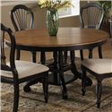 Morris Home Furnishings Wilshire Round Leaf Dining Table - Item Number: 4509DTBRND