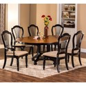 Hillsdale Wilshire 7-Piece Round Dining Set - Item Number: 4509DTBRNDC7