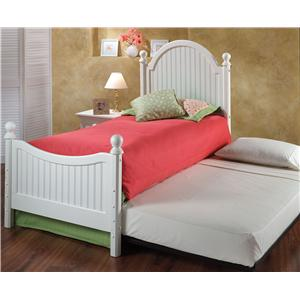 Hillsdale Wood Beds Twin Westfield Bed with Trundle