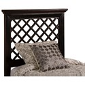 Hillsdale Wood Beds Twin Headboard and Rails with Trellis Design - Bed Shown May Not Represent Size Indicated
