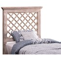Hillsdale Wood Beds Full/Queen Headboard and Rails with Trellis Design - Bed Shown May Not Represent Size Indicated