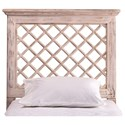 Hillsdale Wood Beds King Headboard and Rails with Trellis Design - Bed Shown May Not Represent Size Indicated