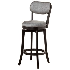 Morris Home Wood Stools Swivel Counter Stool